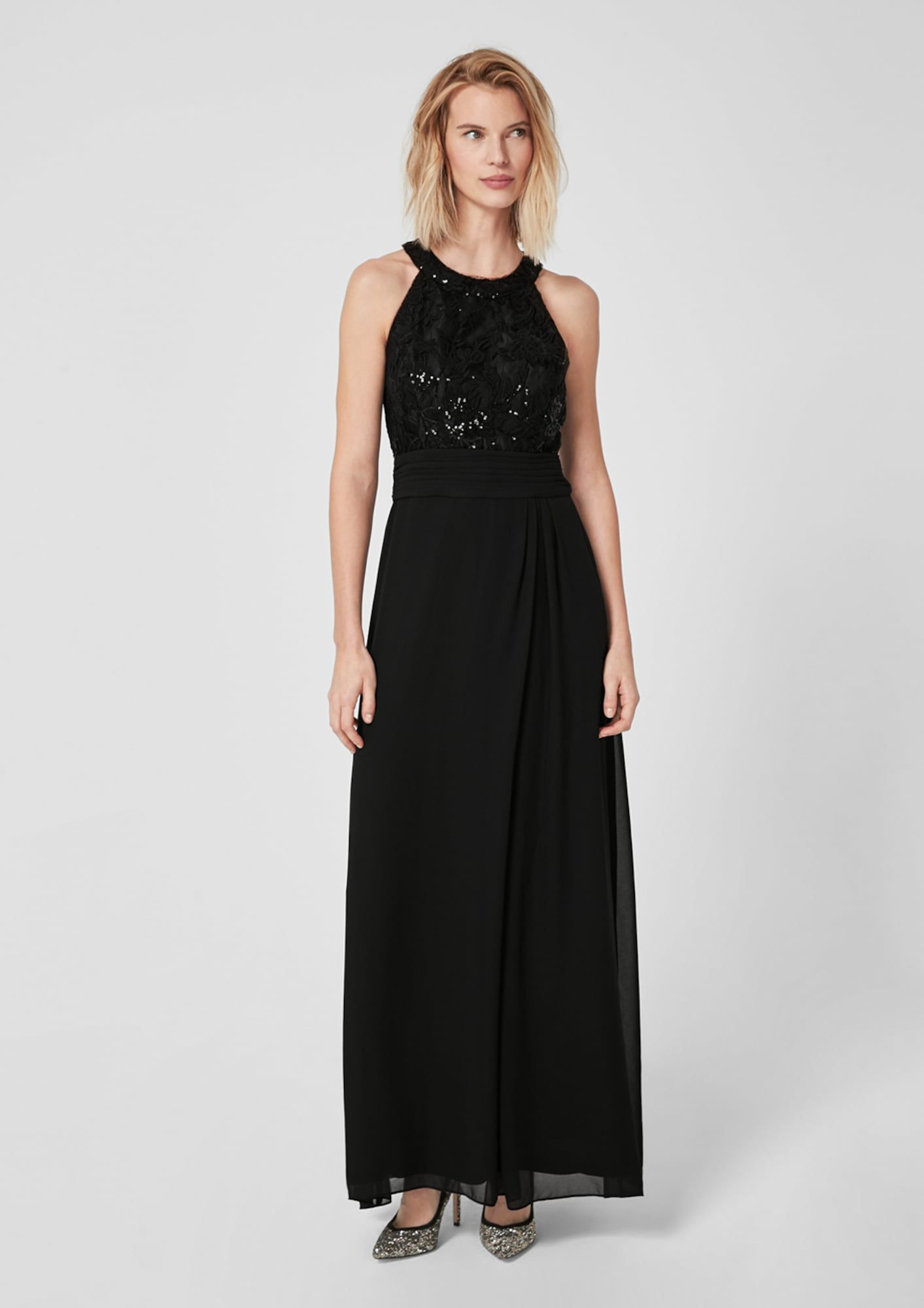 S.Oliver BLACK LABEL Abendkleid Damen, Schwarz, Größe 16