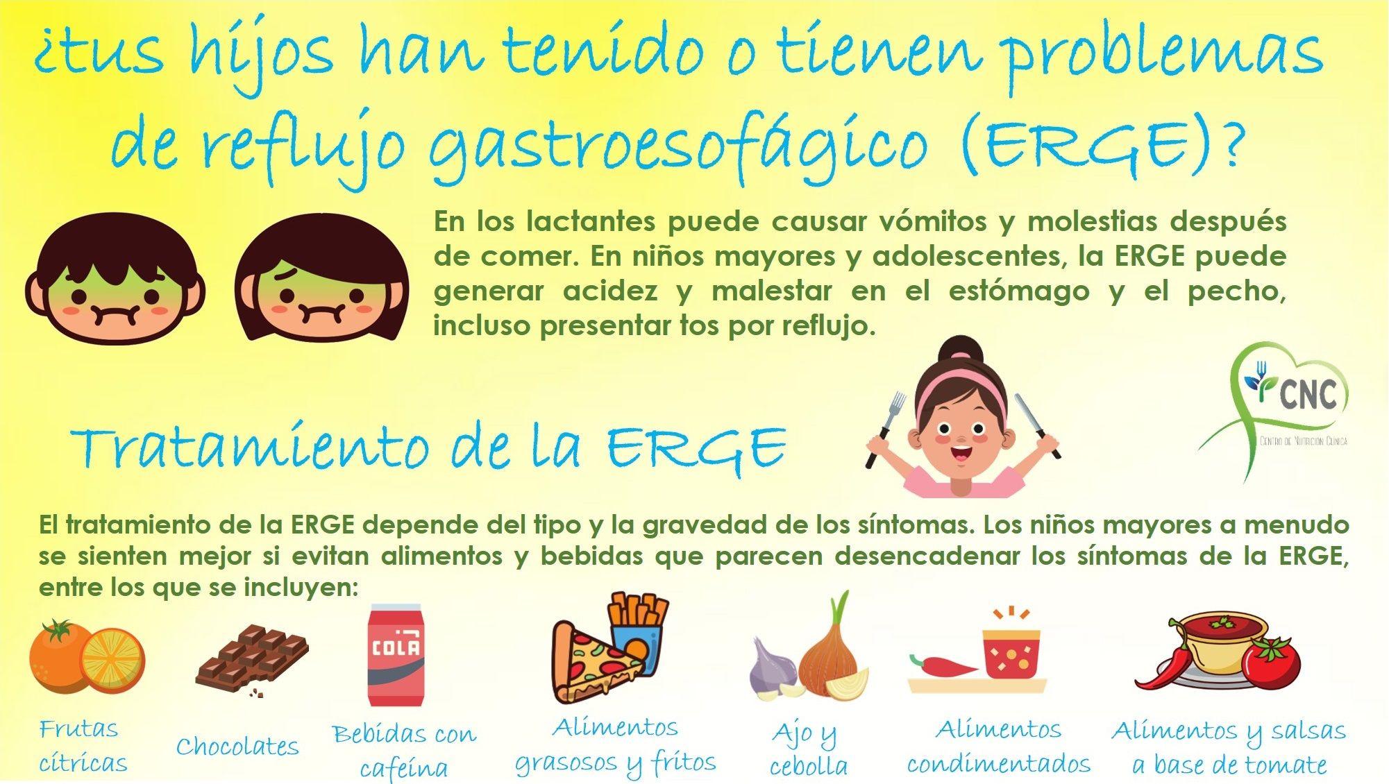 dieta para reflujo gastrico en niños