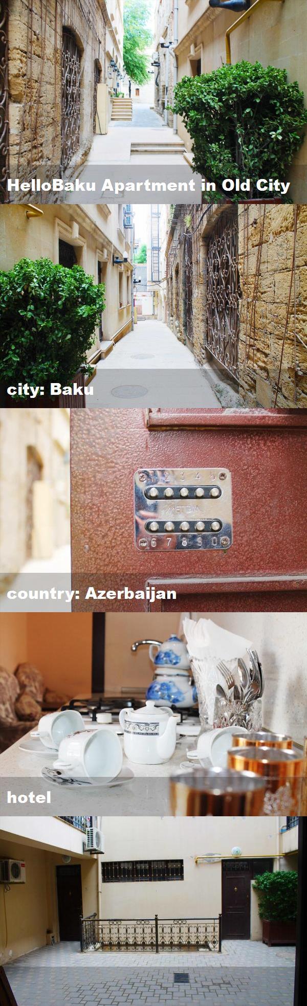 Hellobaku Apartment In Old City City Baku Country Azerbaijan Hotel Hotel Baku City Old City