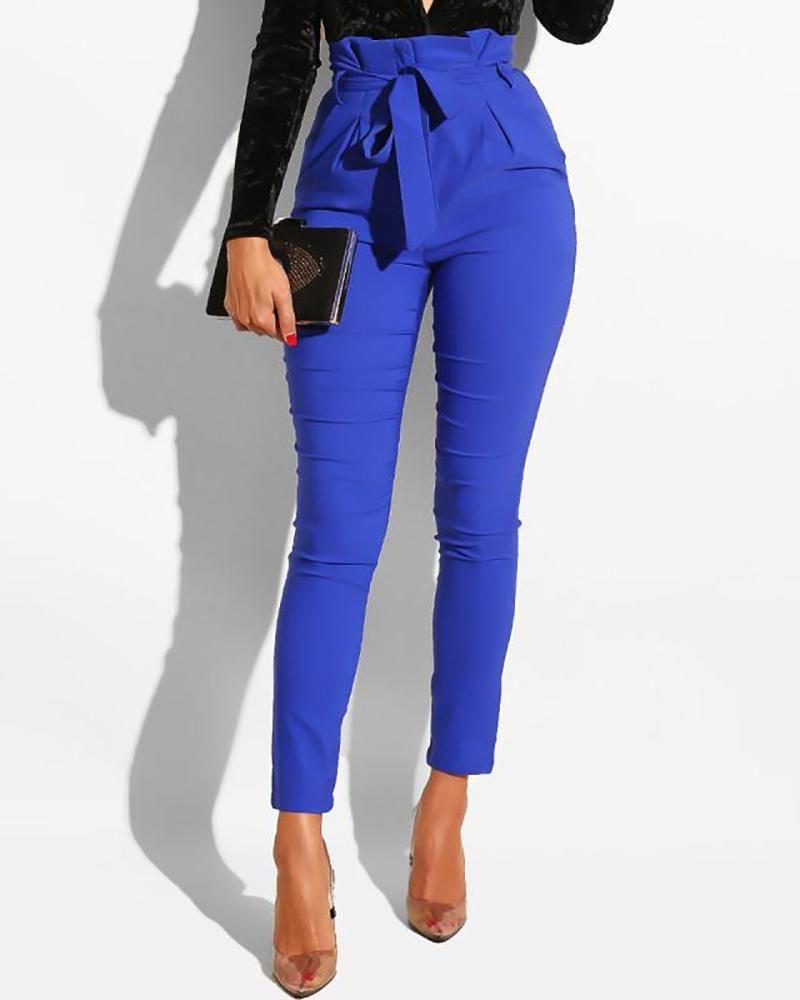Frills High Waist Pencil Pants Fashion Pants Pants Women Fashion Women Pants Casual