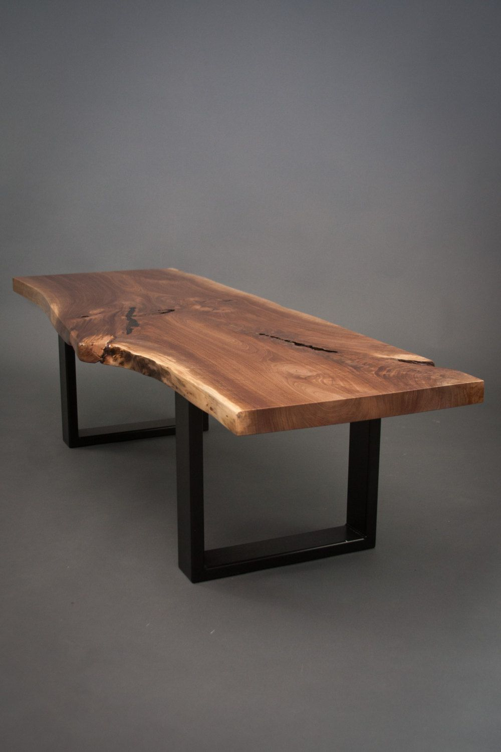 your custom black walnut coffee table size medium live edge slab wood for the home. Black Bedroom Furniture Sets. Home Design Ideas