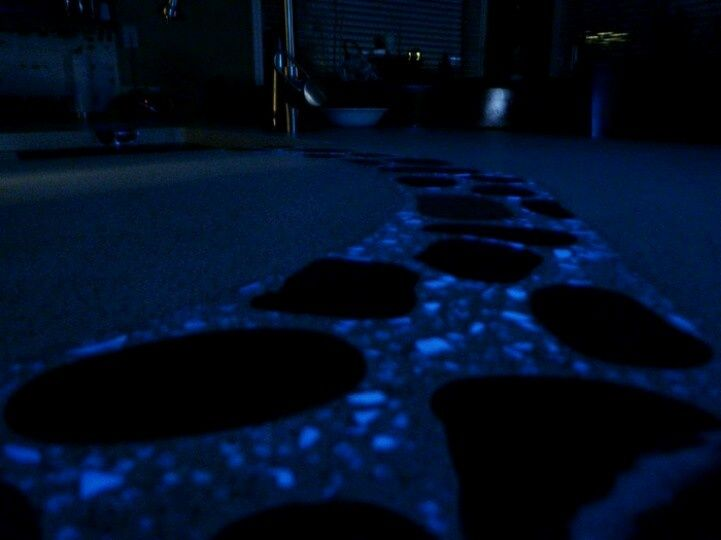 Glowing Stepping Stones Glow Stone Walkway With