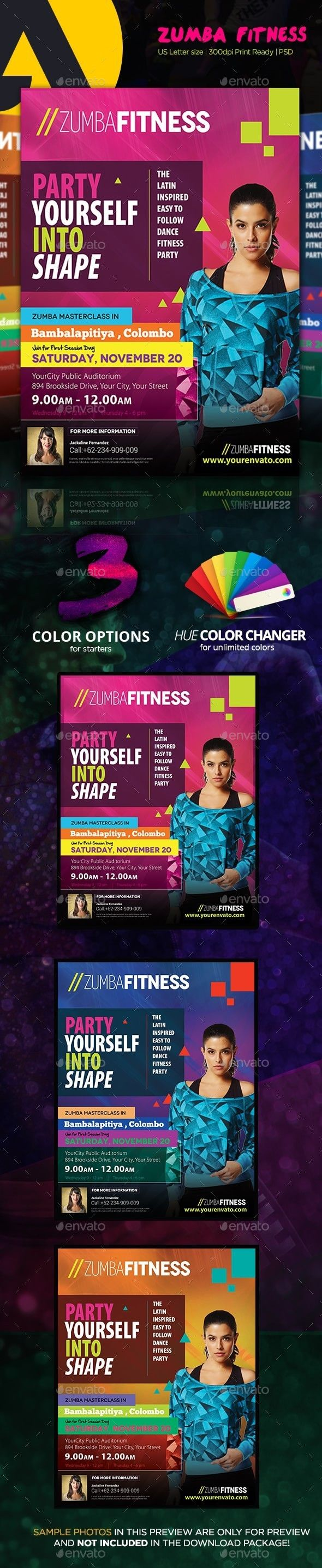 Zumba Fitness Flyer  Zumba Fitness Photoshop And Event Flyers