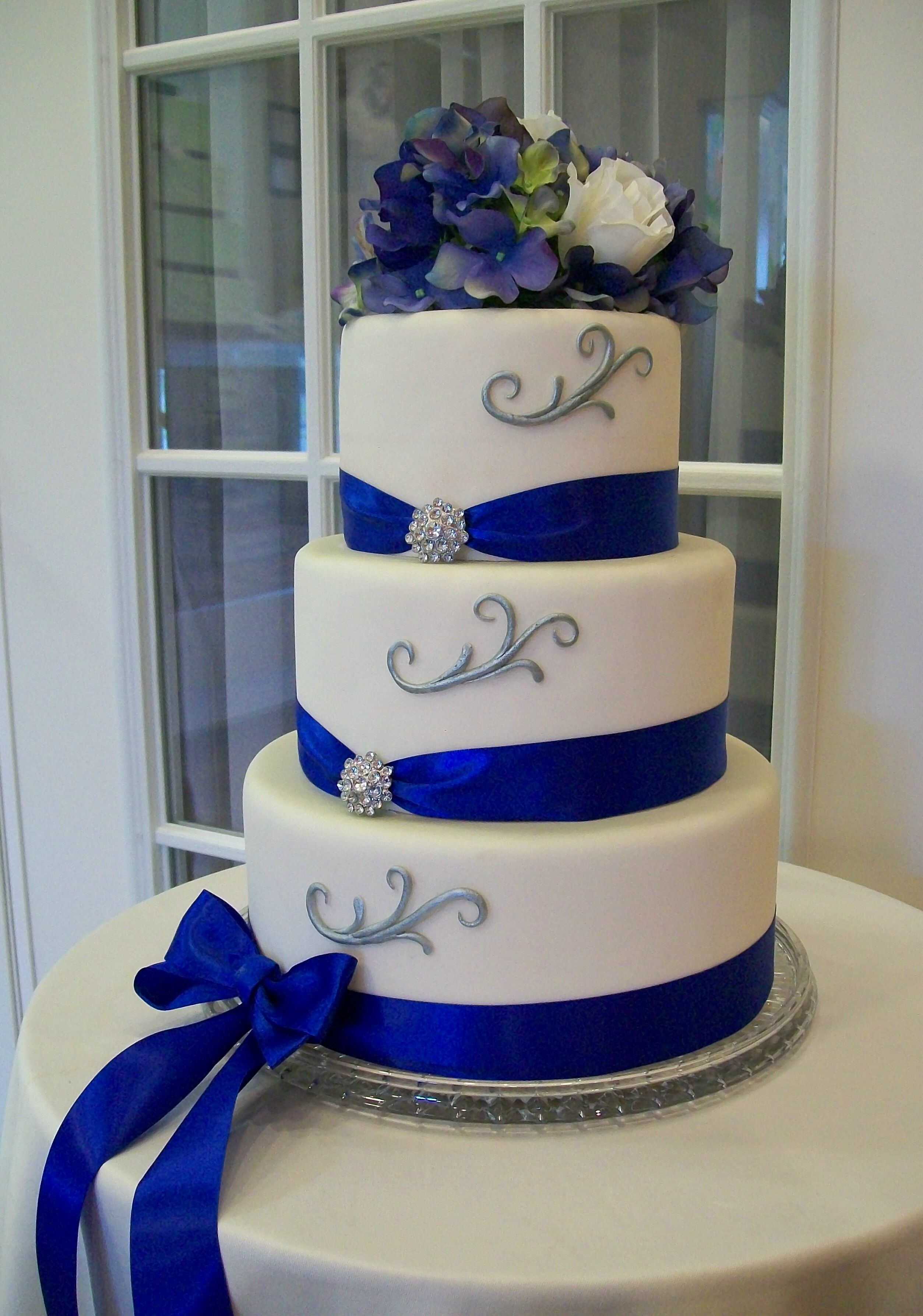 Pin By Tracy BolducGodbott On Wedding Cakes Pinterest Wedding - Small Blue Wedding Cakes