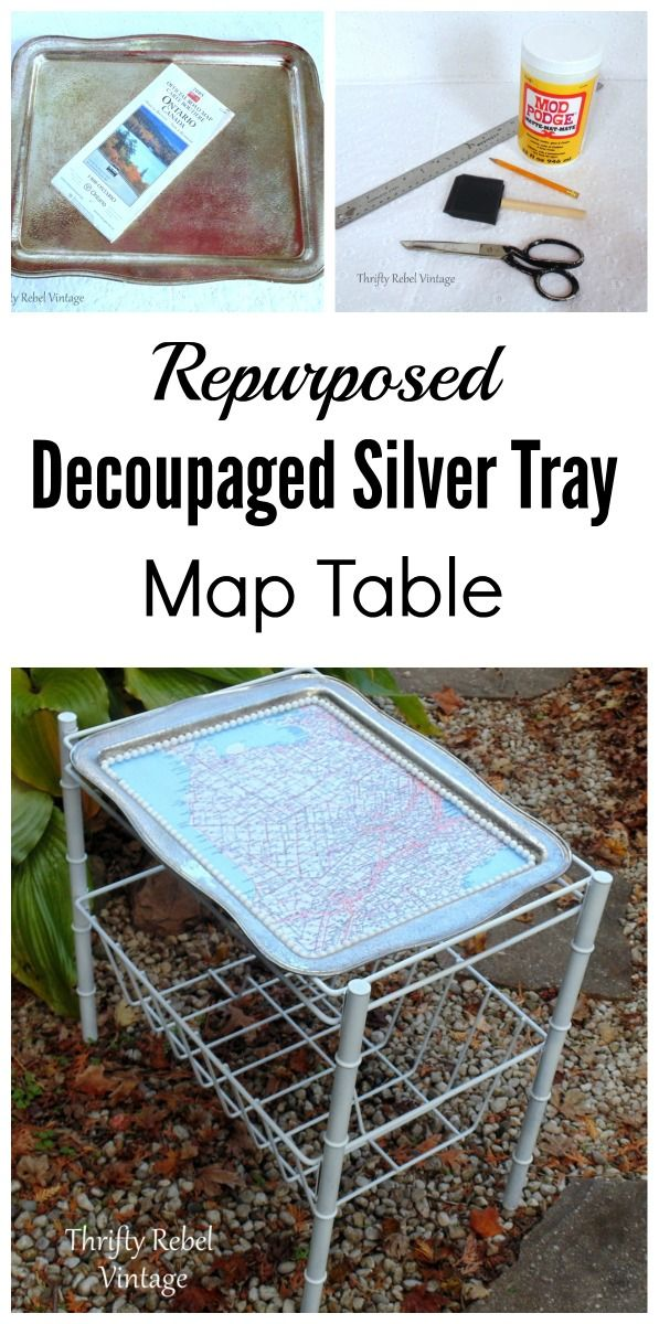 How To Make A Decoupaged Silver Tray