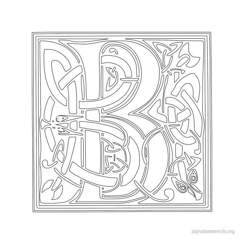 Print Free Alphabet Stencils Celtic B  Addi S Board