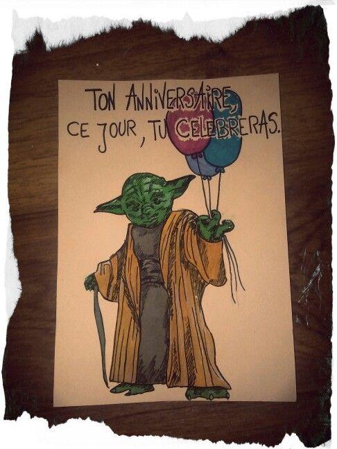 Carte Anniversaire Star Wars Maitre Yoda Star Wars Book Cover Yoda