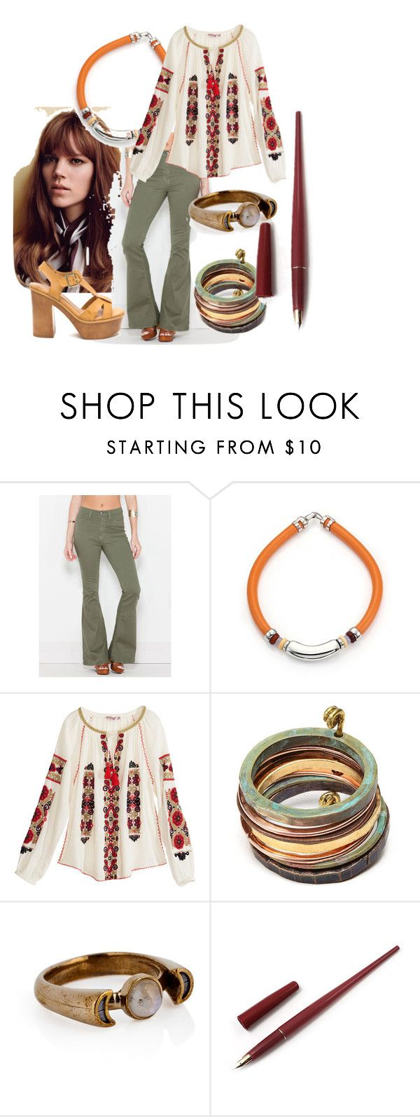 """""""Los Angeles, America 1970's"""" by emiade ❤ liked on Polyvore featuring Lizzie Fortunato, Calypso St. Barth, Sibilia, Pamela Love and Fountain"""