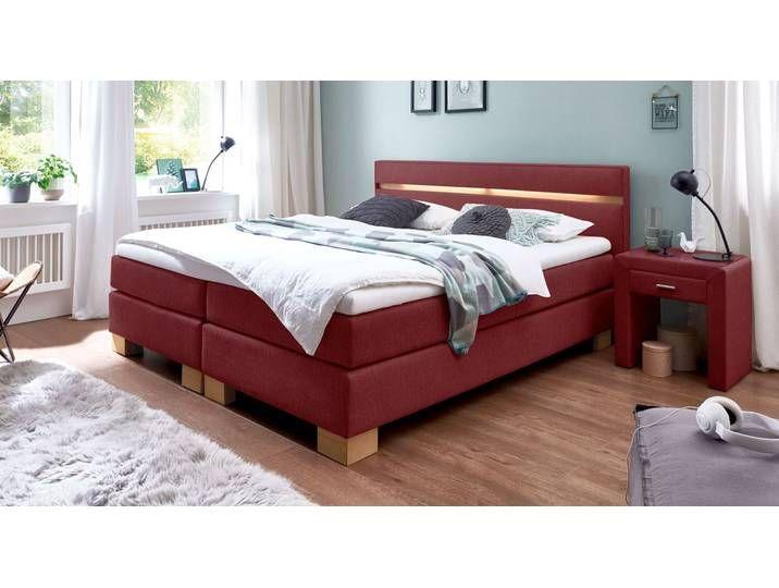 Boxspringbett Vincenzo Mit Led 140x200 Cm Rot H2 Betten De Furniture Home Decor Bed