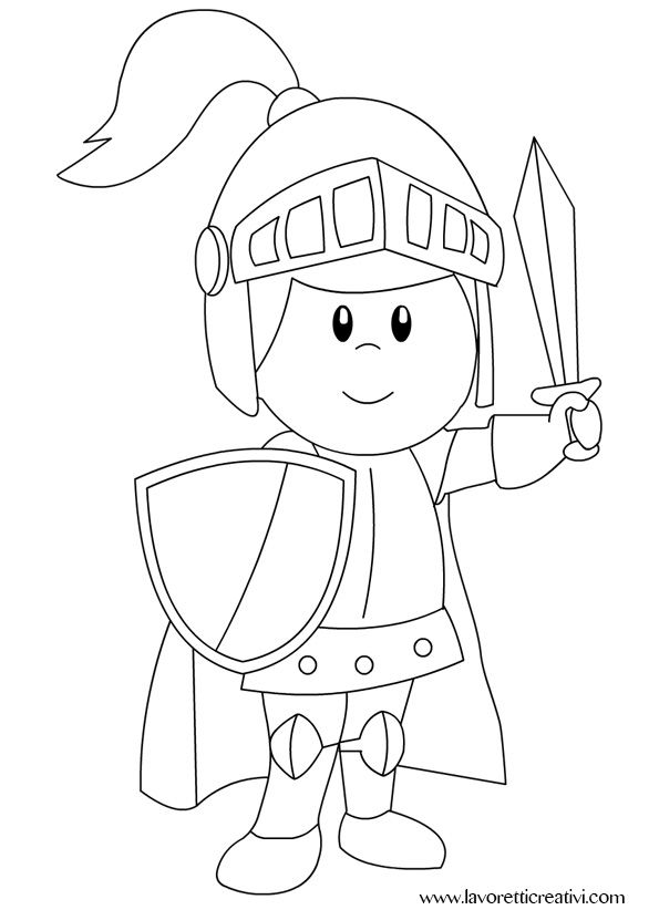Cavaliere Disegni Da Colorare Castello