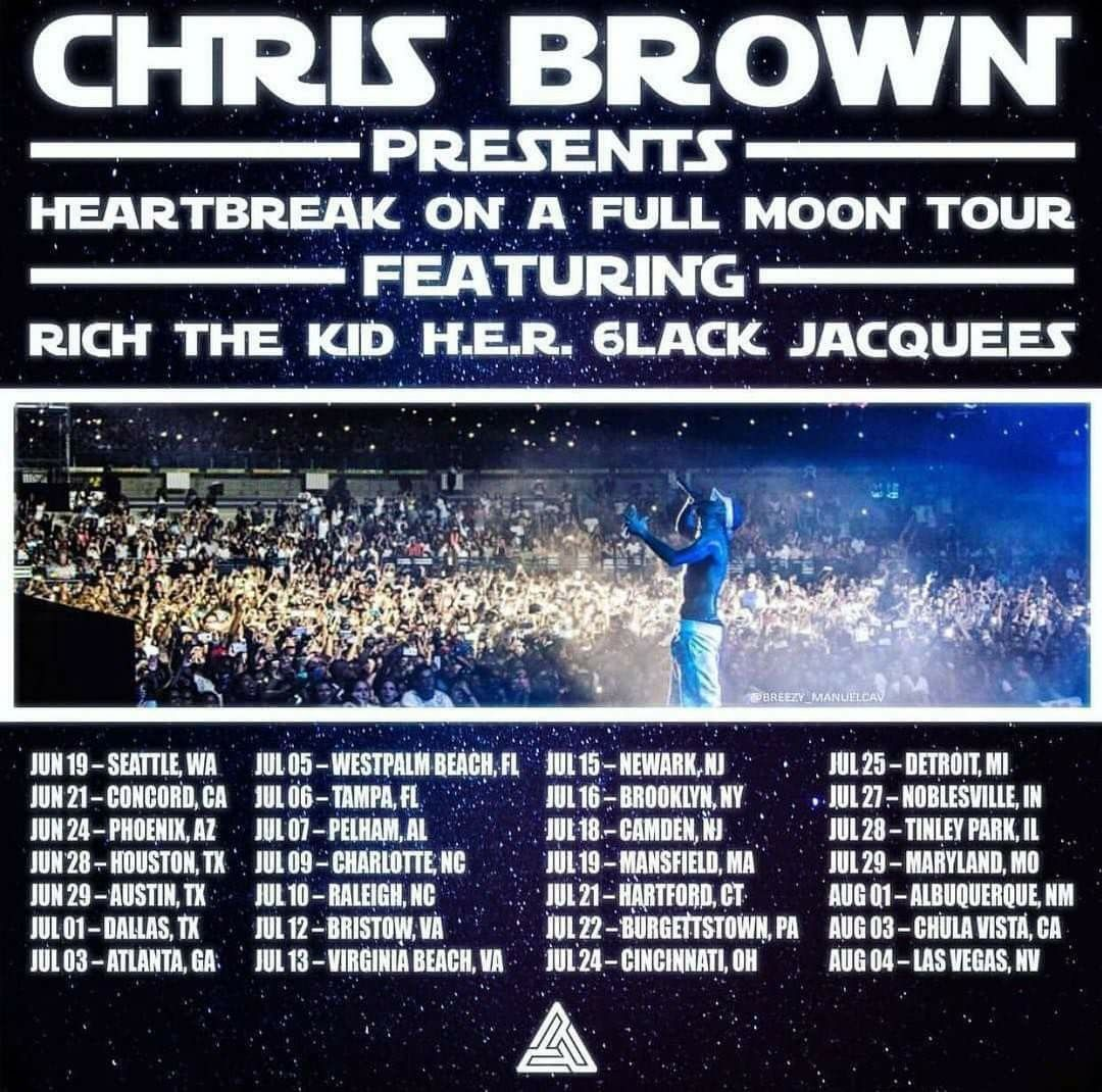 Heartbreak on a Full Moon Tour Dates | Breezy❤ in 2019