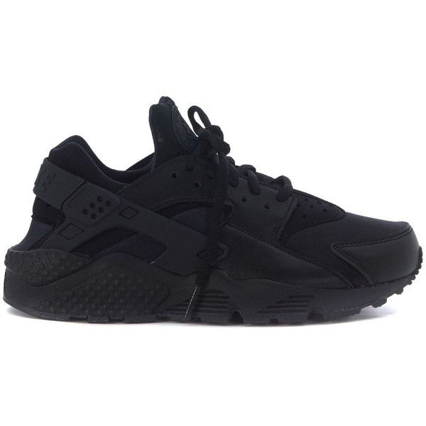 65eff66d9608b Sneaker Nike Air Huarache Run Nera featuring polyvore womens fashion shoes  sneakers nero nike trainers black trainers nike footwear kohl shoes nike