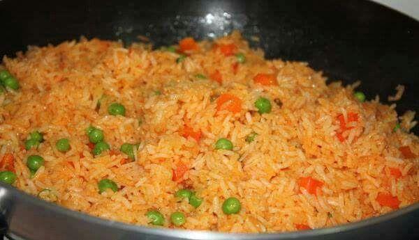 Arroz Rojo Con Verduras Mexican Food Recipes Authentic Mexican Food Recipes Food