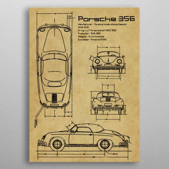 PORSCHE 356 by FARKI15 DESIGN | metal posters - Displate | Displate thumbnail