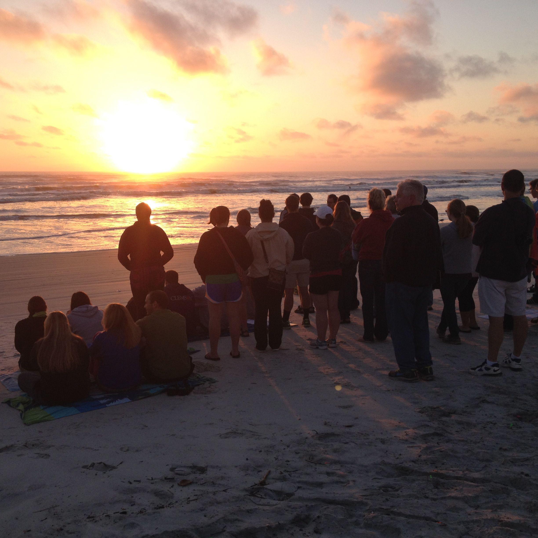 Daytona Beach, FL Sunrise [and a worship service
