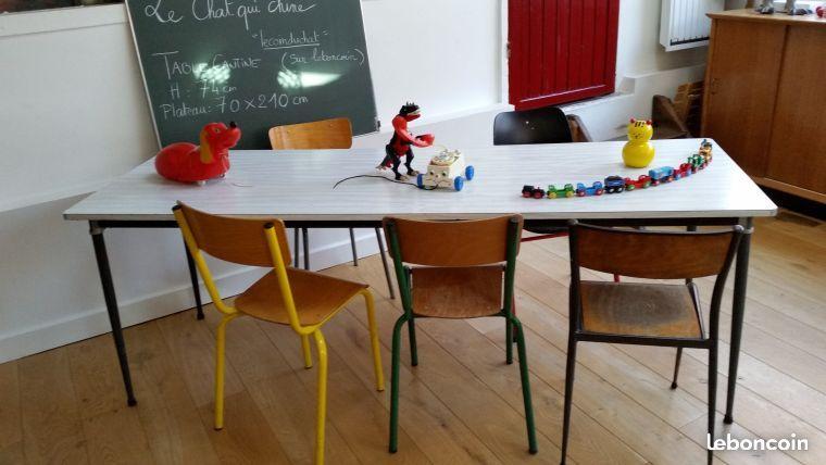 Tables Cantine Formica Vintage Mullca 20 Tables Deco Interieure Deco Ameublement