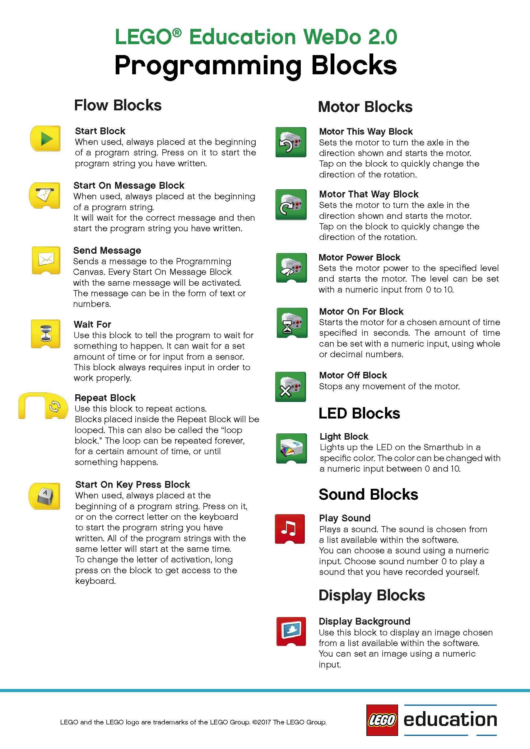 Wedo 2 0 Programming Block Poster Page 1