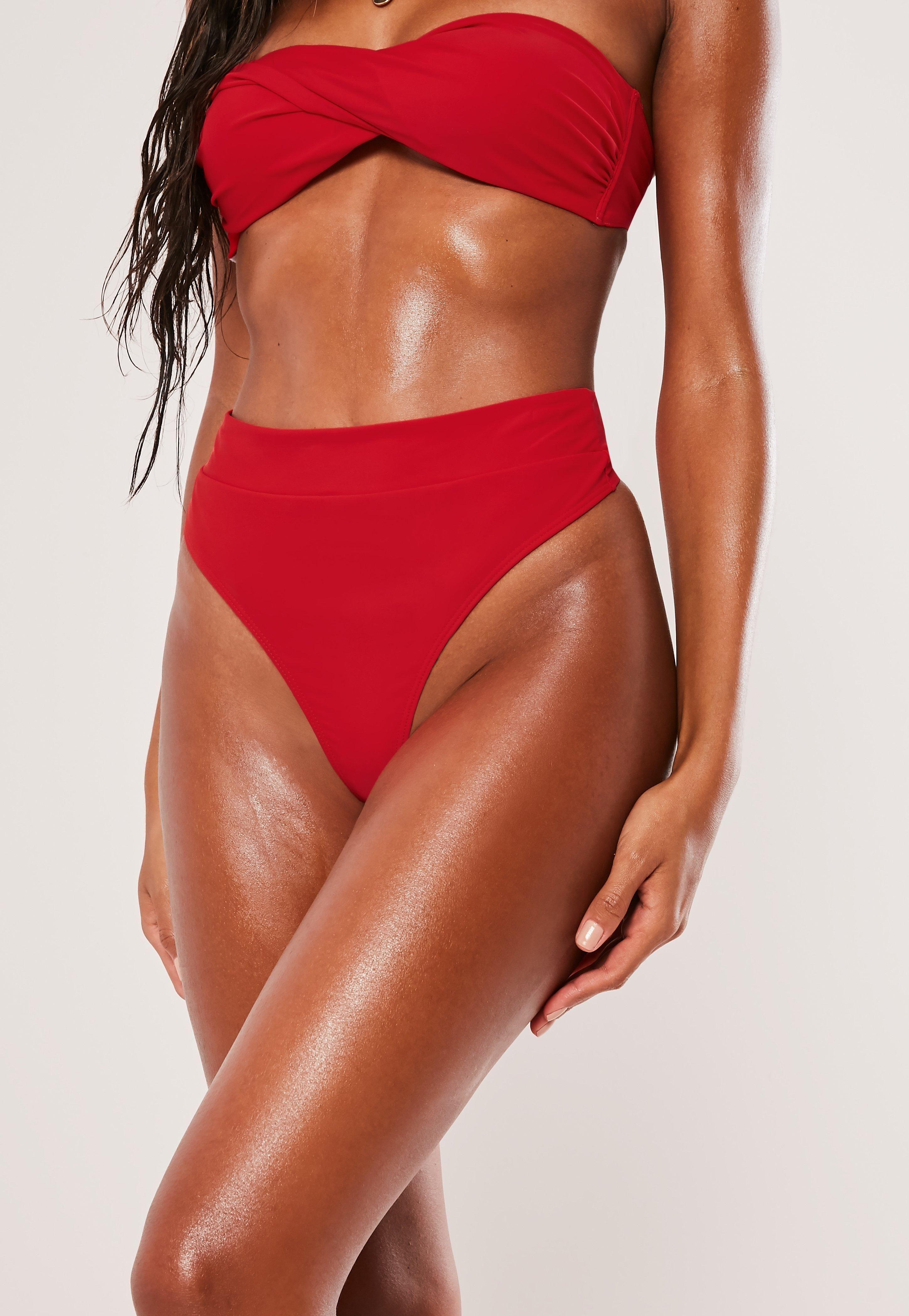 bc5b23638d9 Red Mix And Match High Waisted Thong Bikini Bottoms  Sponsored  Match
