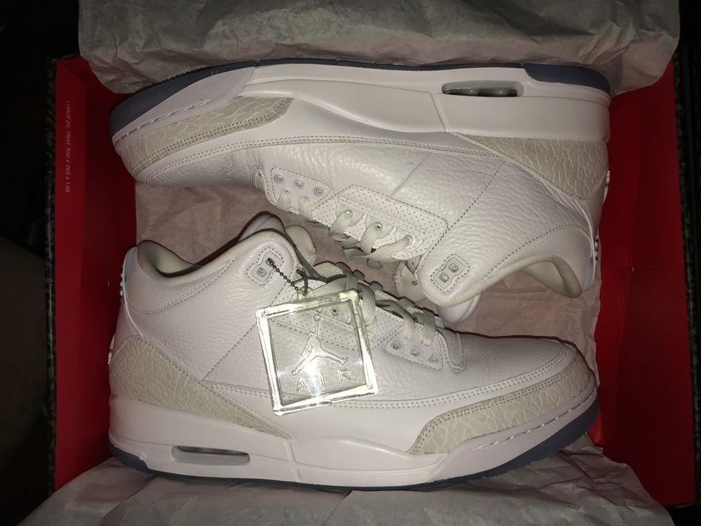 Size 14 Air Jordan 3 Triple White 2018