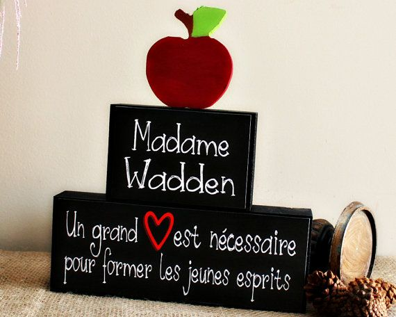 Personalized French Teacher Gifts Teacher Appreciation