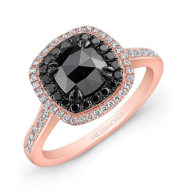 Black gold engagement rings
