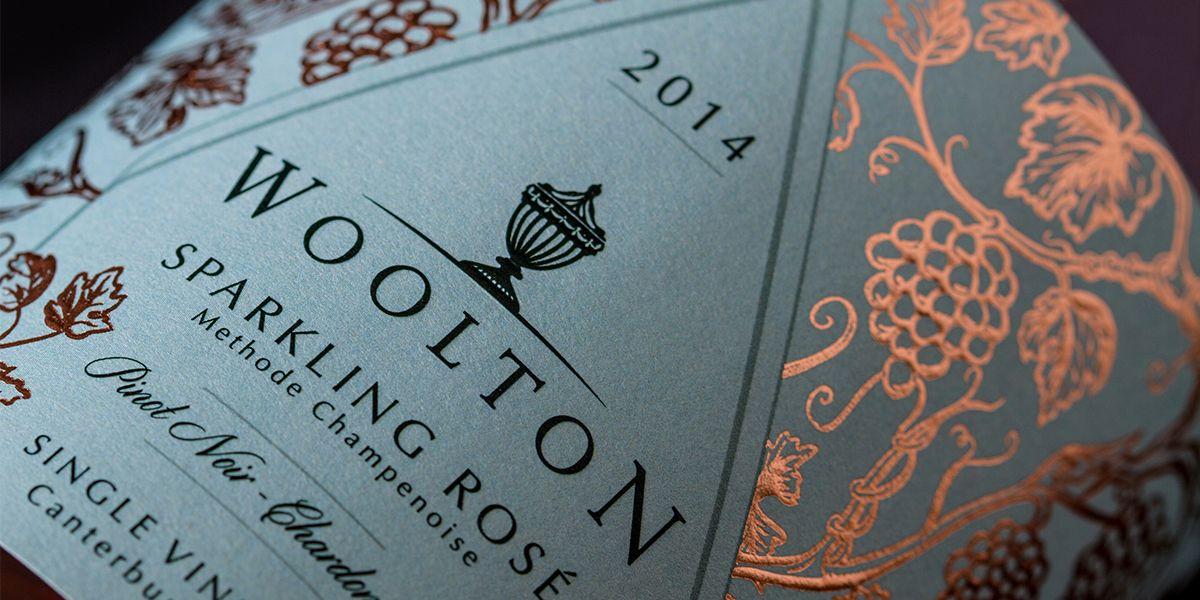 Woolton Sparkling Rosé — The Dieline   Packaging & Branding Design & Innovation News