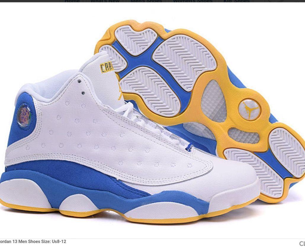sale retailer 6cb9f 9acb5 Nike Jordan's 13 Golden State Warriors team colors | Fashion ...