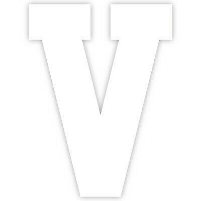 Varsity Letter V Decal Sticker Vinyl Window Laptop College