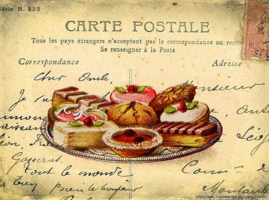 L minas d coupage cupcakes y tortas dise o pinterest - Laminas vintage para cocina ...