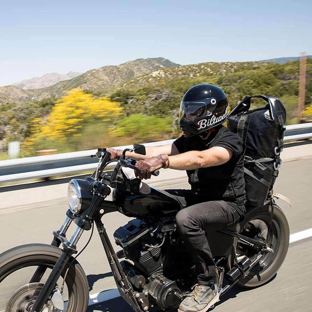 Biltwell Lane Splitter Helmet Gloss Black Factory Motos