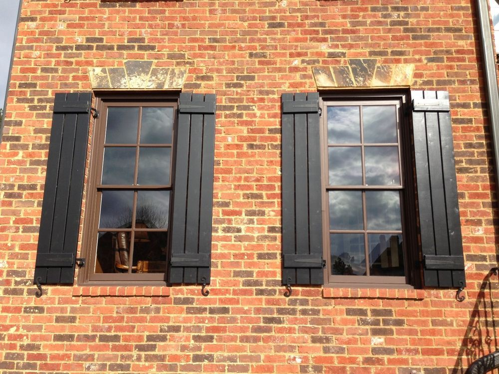 Standard Raised Panel Exterior Vinyl Shutters Shutters Exterior Board And Batten Shutters Shutters Brick House