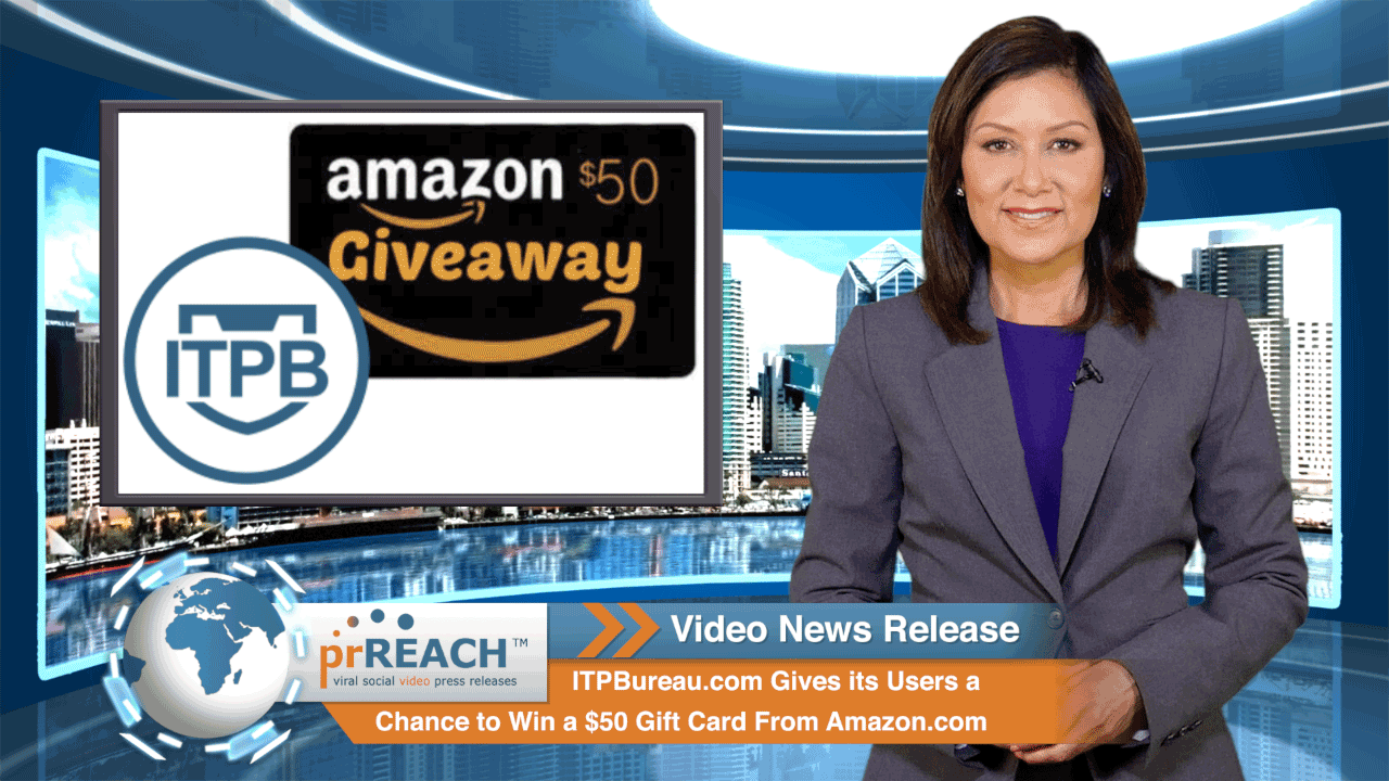 ITPBureau.com Gives its Users a Chance to Win a $50 Gift Card From Amazon.com  http://www.prreach.com/internet-protect…-amazon-giveaway/