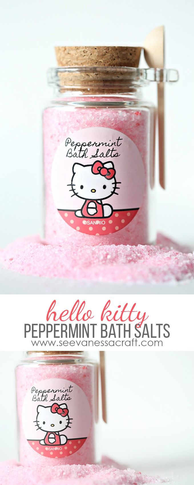 Craft: Hello Kitty Pink Peppermint Bath Salts