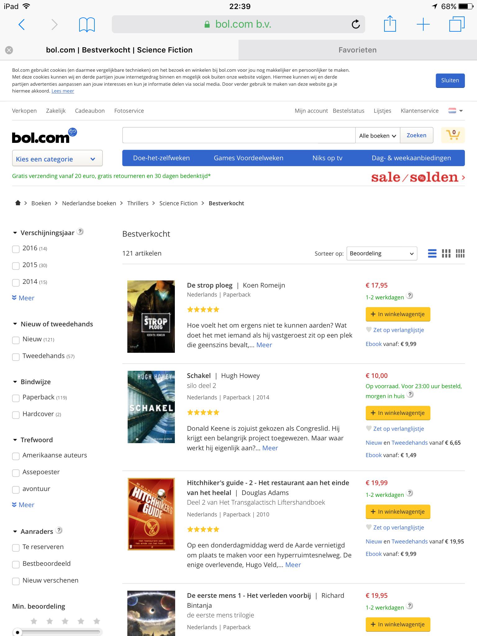 Leuk, het boek 'De Strop Ploeg' van Koen Romeijn is bij Bol.com het bestverkochte Sci-Fi boek. #destropploeg #koenromeijn #scifi #futurouitgevers #bolcom