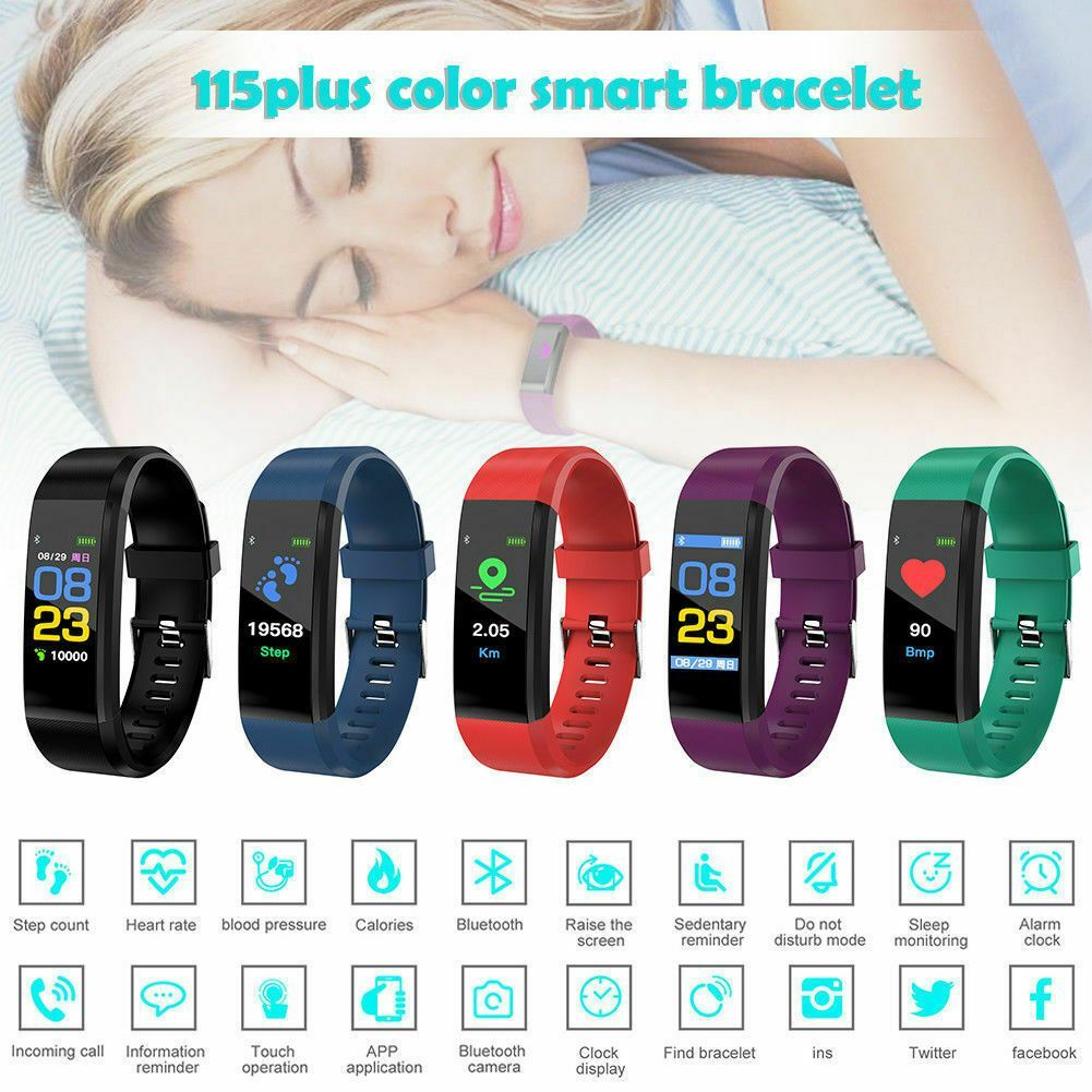 Smart Wristband Bracelet Watch Heart Rate Monitor Blood Pressure Fitness Tracker - Fitness Watch - I...