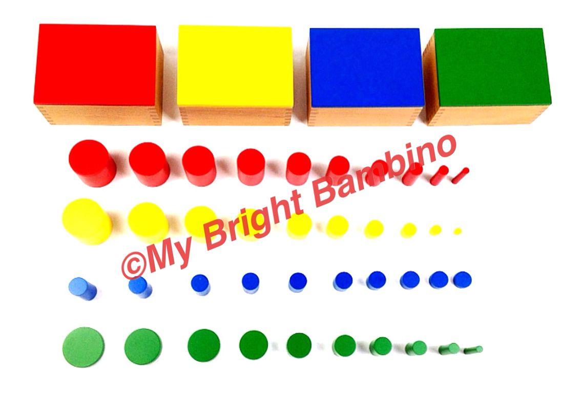 Knobless Cylinders Montessori Brightbambino