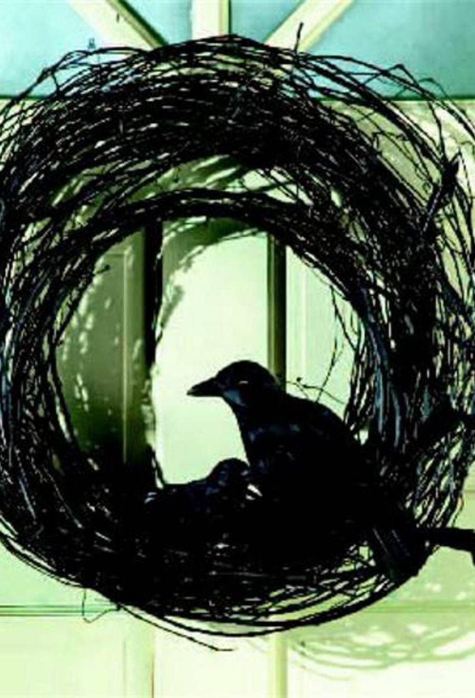 create a diy raven grapevine wreath for your halloween outdoor decor fall - Raven Halloween Decorations