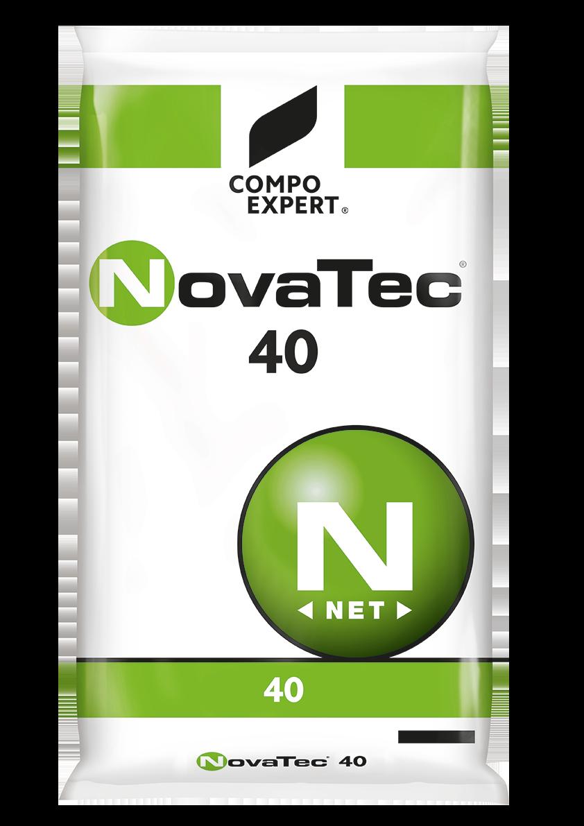 NovaTec® 40 Σύνθεση: 40-0-0  Υδατοδιαλυτό λίπασμα αζώτου με παρεμποδιστή νιτροποίησης του αζώτου (DMPP), κατάλληλο για κάθε καλλιέργεια.     Συσκευασία: σάκοι των 25 κιλών.
