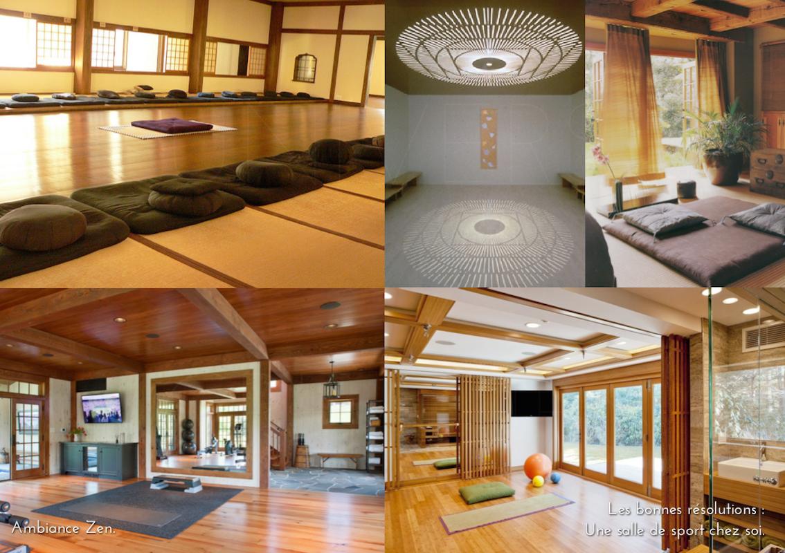 univers creatifs salle yoga zen sport chez soi salle. Black Bedroom Furniture Sets. Home Design Ideas