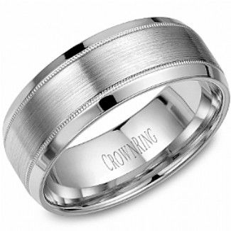 Crown Ring Collections Wedding Bands Clic Wb 8108 M10