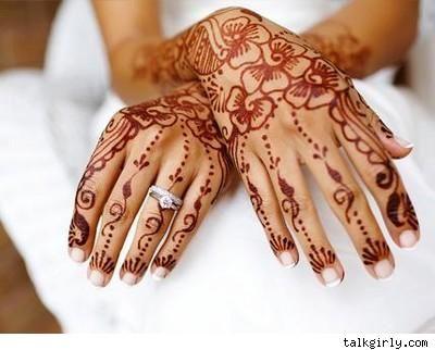 Bridal Mehndi Ideas : Mehndi with a christian bridal dress found on weddingbee