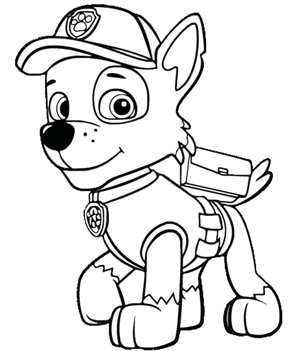Paw Patrol Coloring Printable Sketch