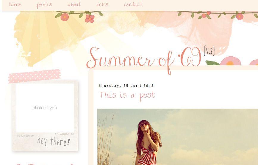 Summer of 69 [v.2] Blogger Template