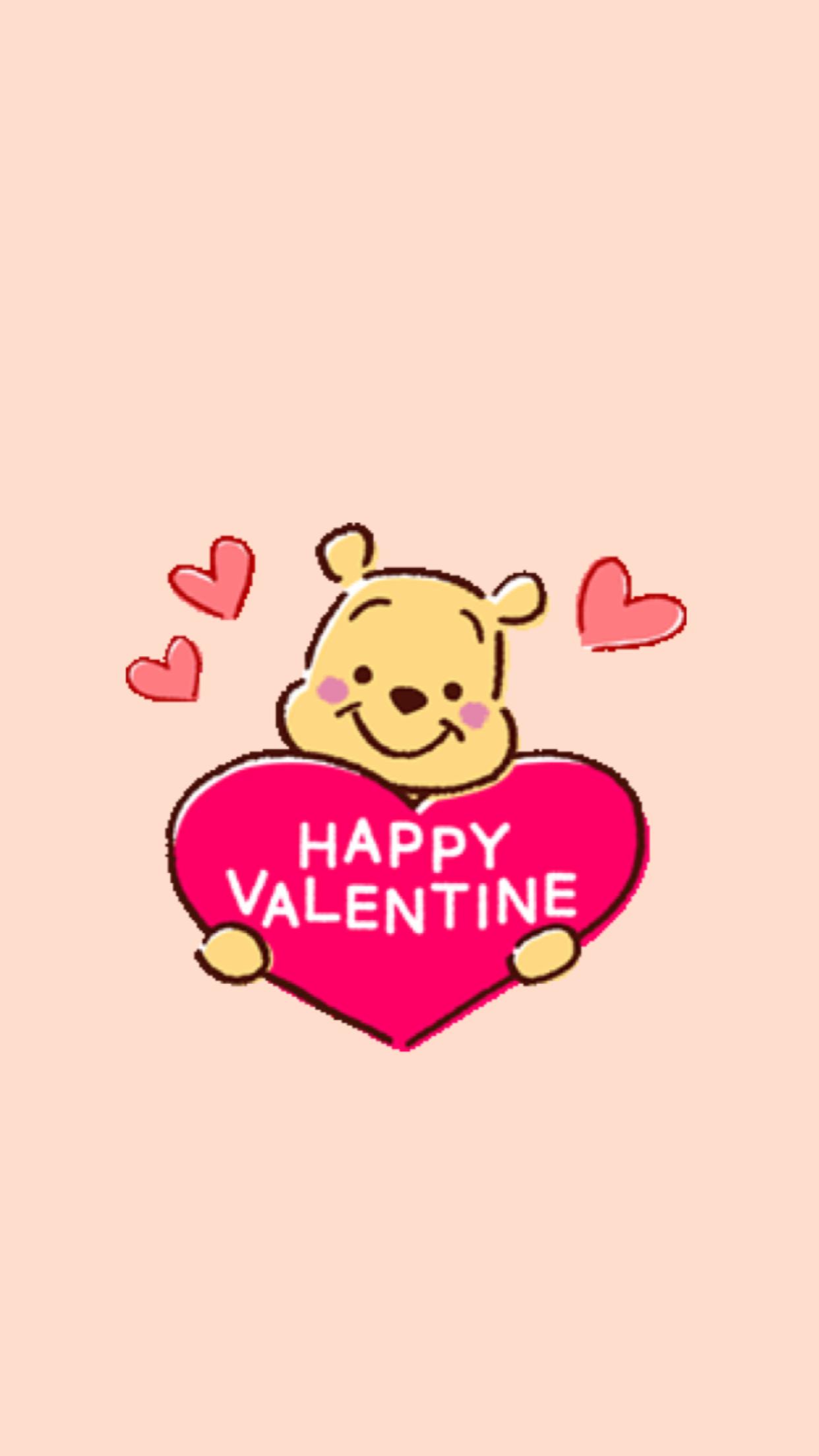 Pin By Wiritsara Chansanat On Wallpapers Valentines Wallpaper Cute Winnie The Pooh Valentine Wallpaper Hd