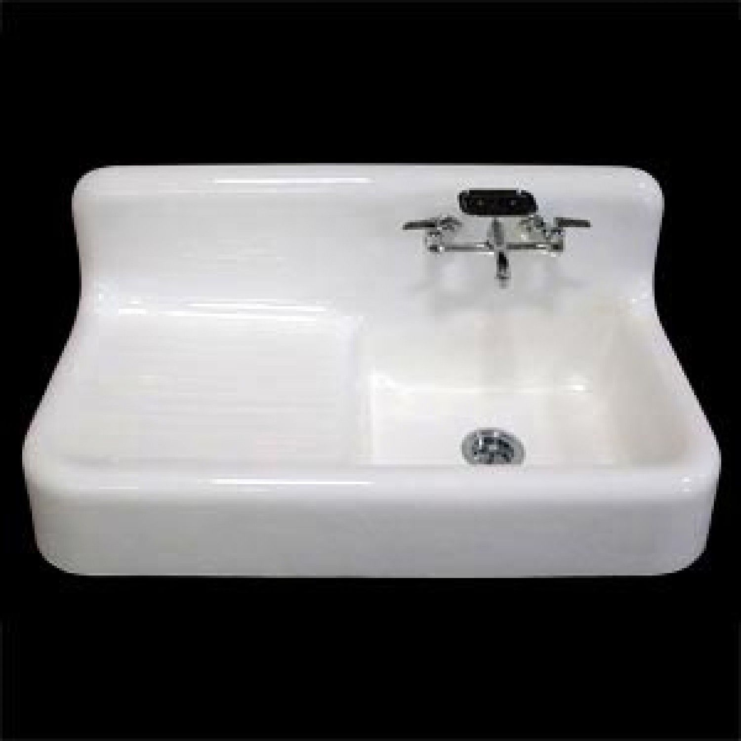 42 Quot Cast Iron Wall Hung Kitchen Sink With Drainboard