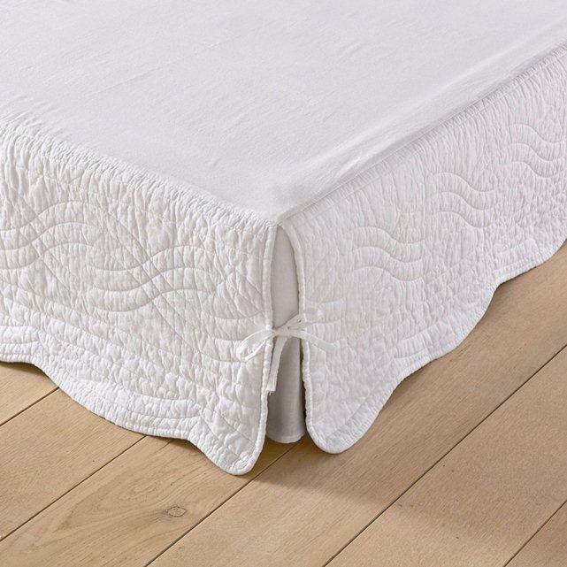 Funda para somier acolchada con parte superior de tela de algodón