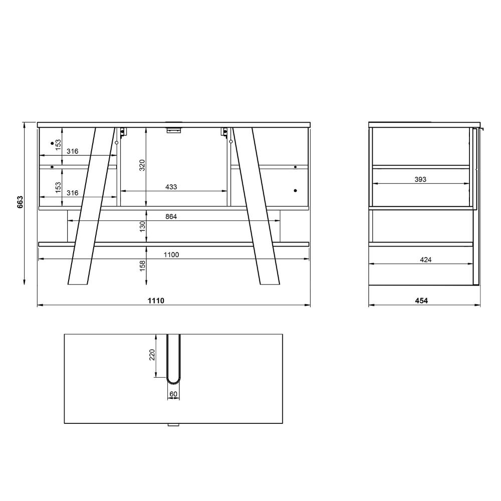 Meuble Sous Lavabo Novolino Acheter Home24 En 2020 Meuble Sous Lavabo Lavabo Rangement Salle De Bain