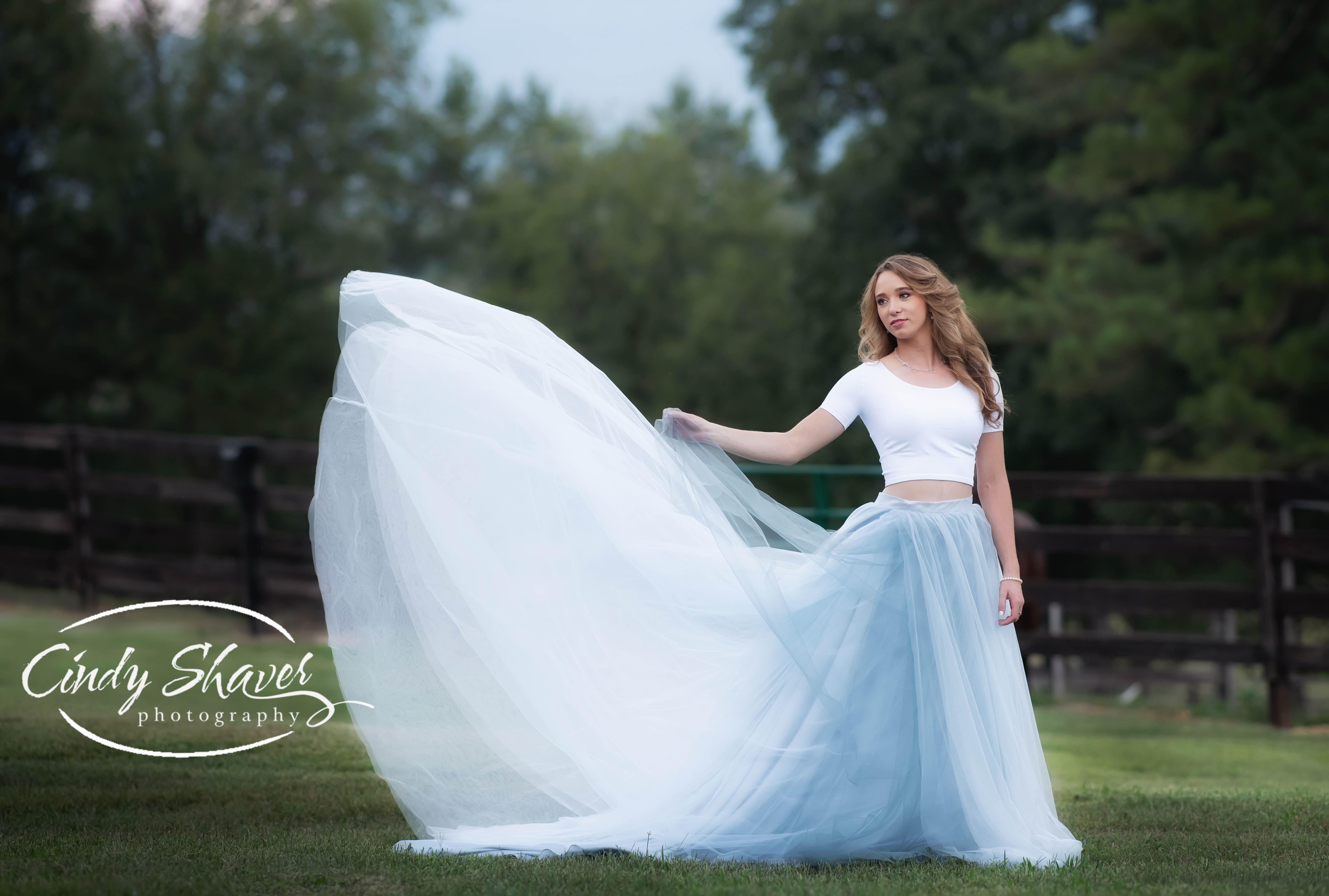 Wedding dress huntsville al  Senior girl long tulle skirt outdoor senior pictures  Alabama