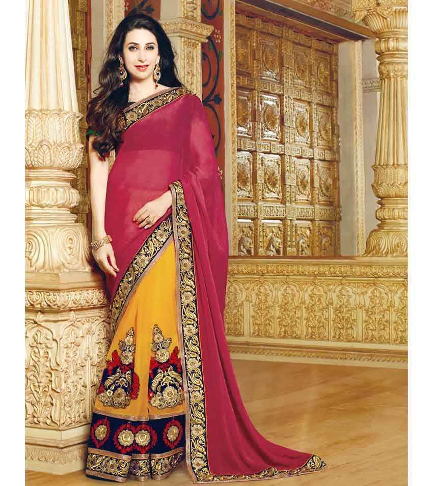 Wine And Mango Yellow Designer Saree Party Wear Sarees Online Saree Designs Party Wear Sarees