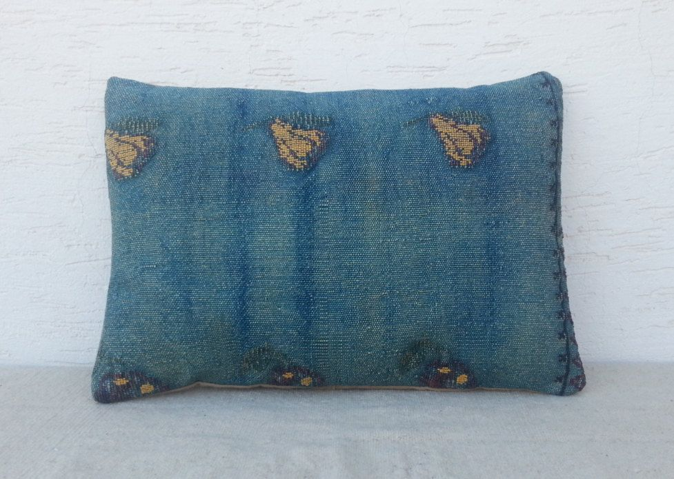 VINTAGE Home DecorHandwoven Embroidered Blue by pillowsstore, $62.00